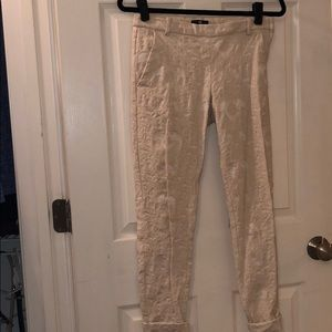 Cream work pants from h&m